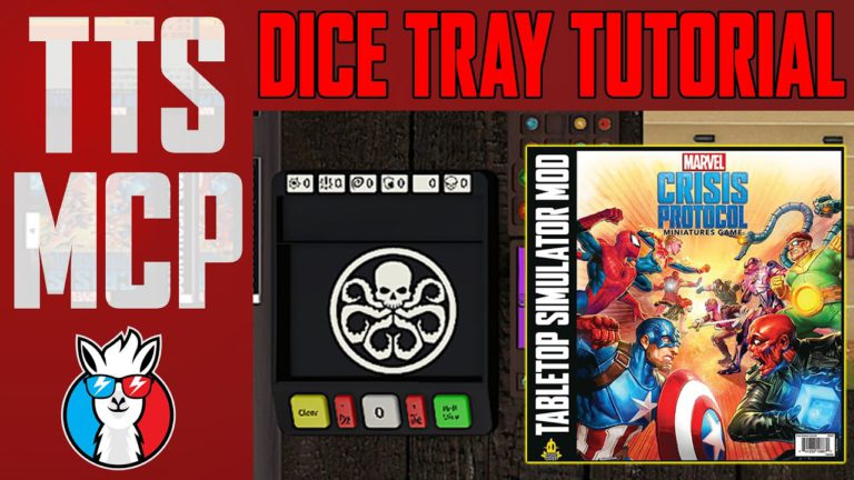 Tabletop Simulator Marvel Crisis Protocol Tutorials: Dice Tray