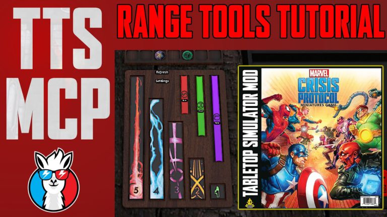 Tabletop Simulator Marvel Crisis Protocol Tutorials: Movement and Range Tools
