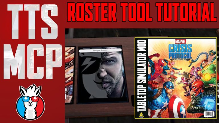 Tabletop Simulator Marvel Crisis Protocol Tutorials: Roster Tray