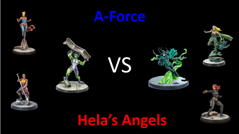Ozark Gladiators – Hela's Angels vs A-Force. A Marvel: Crisis Protocol Battle Report