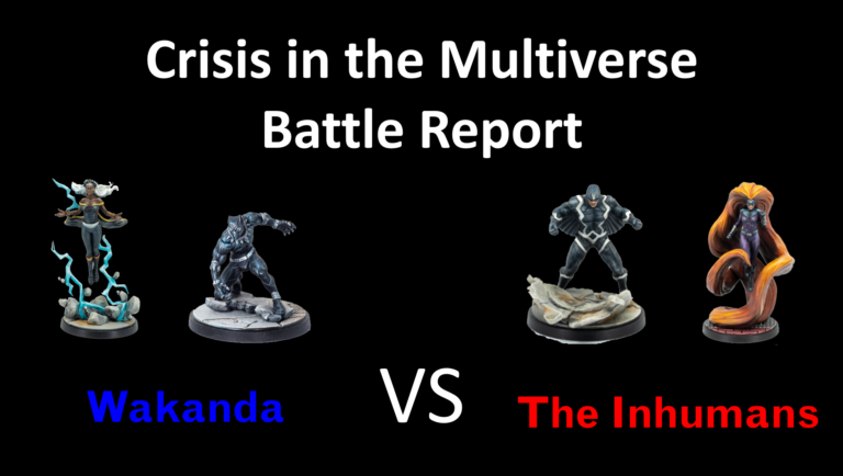 Ozark Gladiators Presents – S1E17: Wakanda Vs The Inhuman – A Marvel: Crisis Protocol Battle Report.