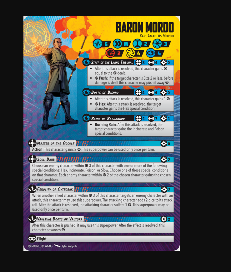 From panel to Play its Baron Mordo